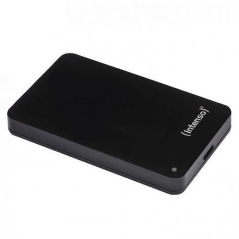 "Intenso 500GB Memory Case External Hard Drive, 2.5"", USB 3.0, Black"